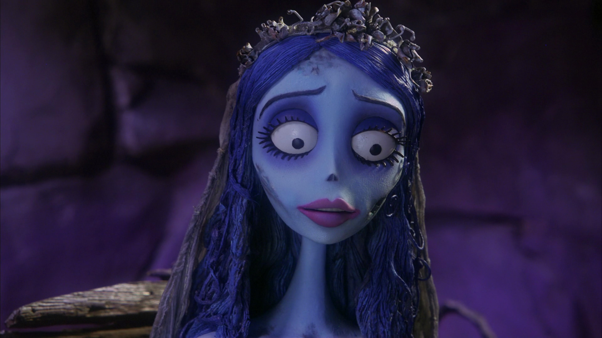 corpse bride Tim burton redefines gothic romance in the stop-motion tale of an undead bride and her still-breathing groom.